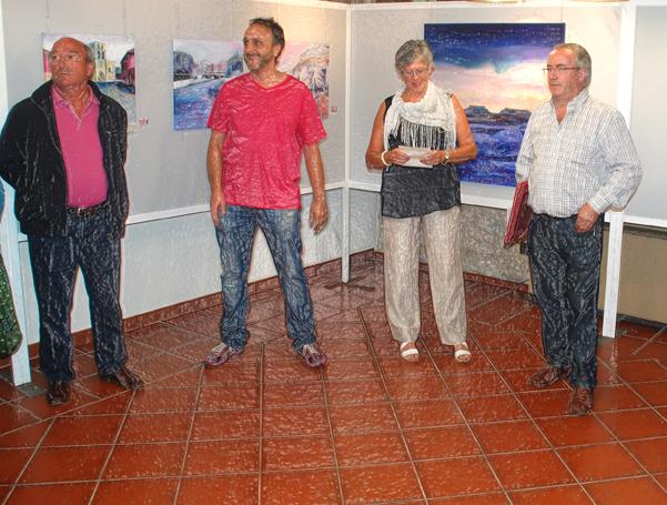 Con la presidenta de la Asociación y el alcalde de Villadiego I.