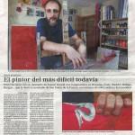 El pintor del más dificil todavía. El Correo de Burgos, mayo de 2013.