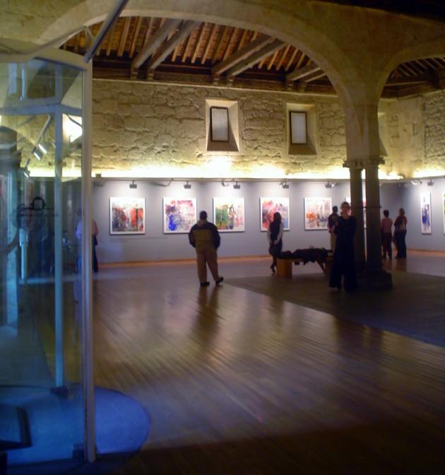 Entrada interior a la exposición.