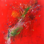 Humminbirds I. 146 cm x 146 cm. Acrílico sobre lienzo. 2013.