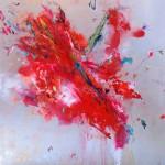 Hummingbirds IV. 100 cm x 100 cm. Acrílico sobre lienzo. 2013.