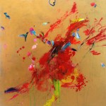 Hummingbirds X. 70 cm x 70 cm. Acrílico sobre lienzo. 2013.