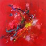 Hummingbirds XI. 70 cm x 70 cm. Acrílico sobre lienzo. 2013.