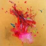 Hummingbirds XII. 70 cm x 70 cm. Acrílico sobre lienzo. 2013.