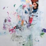 Le fleur I. 50 cm x 50 cm. Mixta sobre papel. 2013