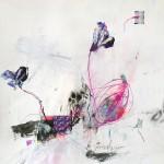 Le fleur IV. 50 cm x 50 cm. Mixta sobre papel. 2013.