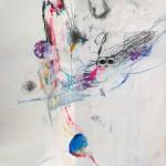 Le fleur V. 50 cm x 50 cm. Mixta sobre papel. 2013.