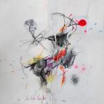 Le fleur VI. 50 cm x 50 cm. Mixta sobre papel. 2013.