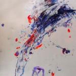 Le fleur VIII. 50 cm x 50 cm. Mixta sobre papel. 2013.