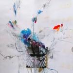Le fleur X. 50 cm x 50 cm. Mixta sobre papel. 2013.