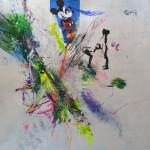 Le fleur XI. 50 cm x 50 cm. Mixta sobre papel. 2013.