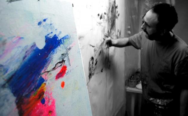 Pintando Le fleur III.