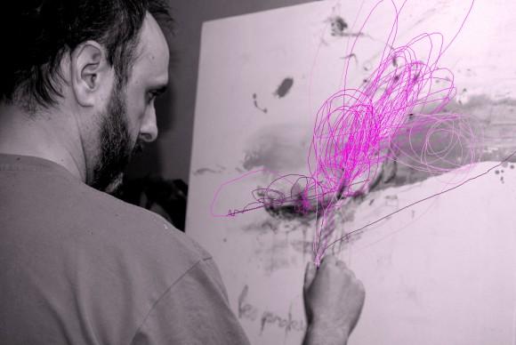 Pintando Le fleur X.