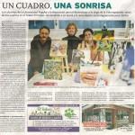 Un cuadro, una sonrisa. Diario de Burgos, mayo de 2013.