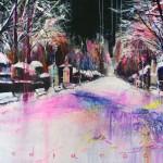 A media noche. 116 x 73 cm. Mixta sobre lienzo. 2014