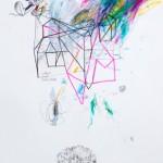 Casa sin salida. 28 x 58 cm. Mixta sobre papel. 2015