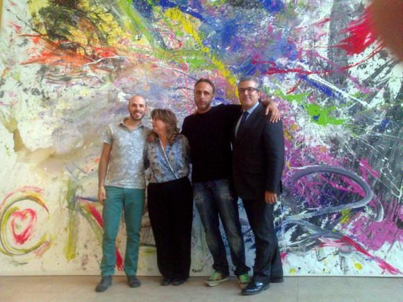 Con Aitor Aparicio, Ester y David.