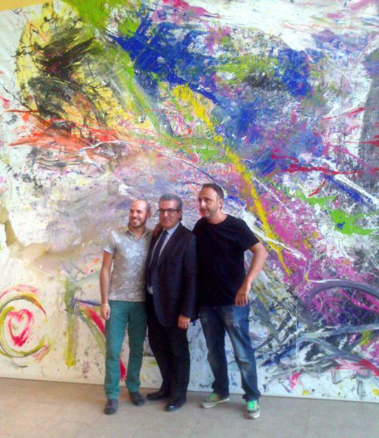 Con Aitor Aparicio y David.