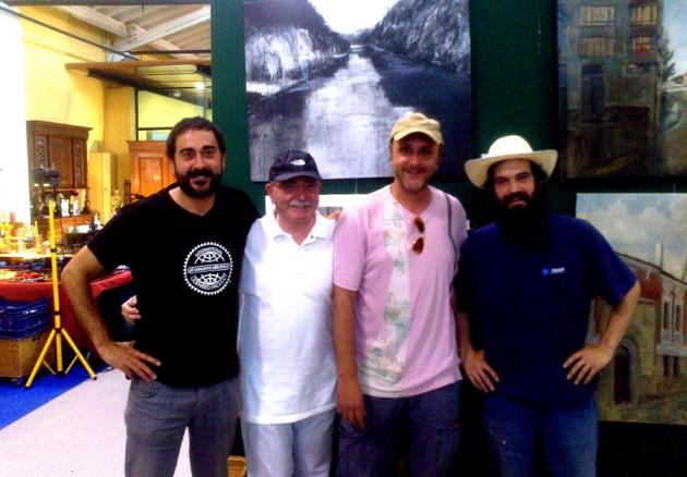 Con Carlos, Portu e Igor.