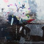 Fleurs. 30 x 30 cm. Mixta sobre papel. 2014