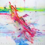La libertad del proceso. 146 x 146 cm. Mixta sobre lienzo. 2014