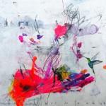 Le colibri de la cage. 30 x 30 cm. Mixta sobre papel. 2014