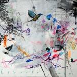 Liberté cage. 30 x 40 cm. Mixta sobre papel. 2014