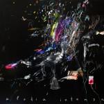 Melodía intensa. 114 x 88 cm. Mixta sobre papel. 2014.