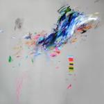 Nonsense 4. 150 x 150 cm. Mixta sobre lienzo. 2015