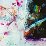 Papillon. 30 x 30 cm. Mixta sobre papel. 2014