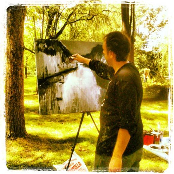 Pintando en Carrión