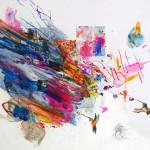 Poema de sueños IX. 30 x 30 cm. Mixta sobre papel. 2014