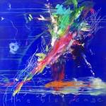The bleu cage. 146 x 146 cm. Acrílico sobre lienzo. 2014