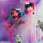 Alucino pepinillo III. 70 cm x 70 cm. Mixta sobre lienzo. 2016