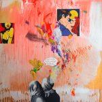 Alucino pepinillo IV. 50 cm x 50 cm. Mixta sobre lienzo. 2016