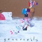 Generosity. 80 cm x 80 cm. Mixta sobre cartón 2016