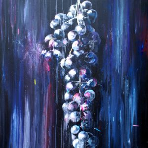 """El racimo de la memoria"". 150 x 150 cm. Mixta sobre lienzo."