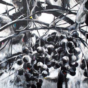 """Encuentros"". 150 x 150 cm. Mixta sobre lienzo"