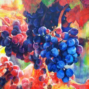 """""""La luz creada"""". 195 x 195 cm. Mixta sobre lienzo."""
