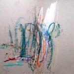 Sinestesias IV. 30 x 30 cm. Mixta sobre cartón. 2015.